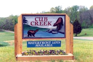 Cub  Creek Sign